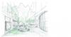 New school design - courtyard and facade sketch