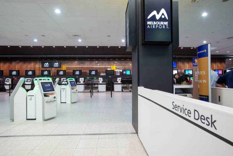 Melbourne Airport T2 Check-in