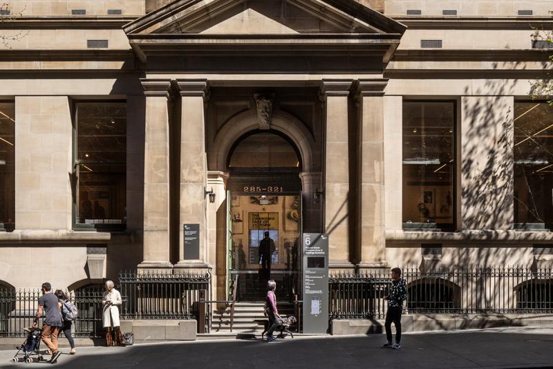 State Library Victoria Front Door sandstone
