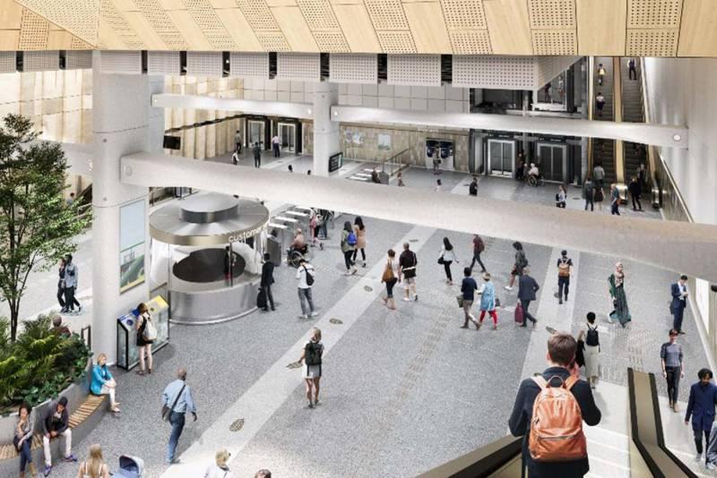Suburban Rail Loop - Monash Station Concept design interior
